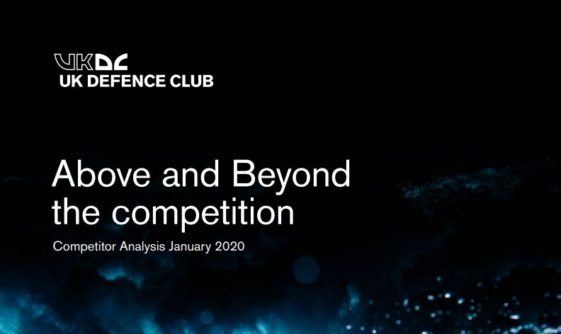 UKDC above and beyond the competition title card