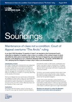 "August, 2019 - Court of Appeal overturns ""The Arctic"" ruling"