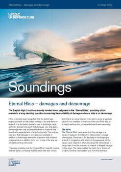 October, 2020 - Eternal Bliss – damages and demurrage