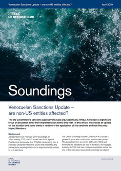 May, 2019 - Venezuelan Sanctions Update
