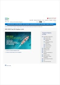 Singapore MPA guidance for Singapore registered ships and ships calling at Singapore