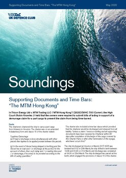 "May, 2020 - Supporting Documents and Time Bars: ""The MTM Hong Kong"""