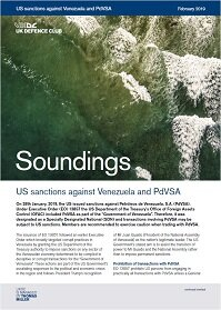 February, 2019 - US sanctions against Venezuela and PdVSA