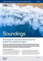 July, 2019 - All change? An early assessment of the new English Court disclosure regime
