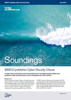 June, 2019 - BIMCO Publishes Cyber Security Clause