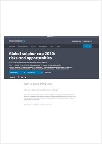 Lloyds List Intelligence Topic Video - Global sulphur cap 2020: risks and challenges