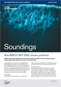 December, 2018 - New BIMCO IMO 2020 clauses published