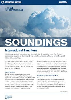 August, 2014 - International Sanctions
